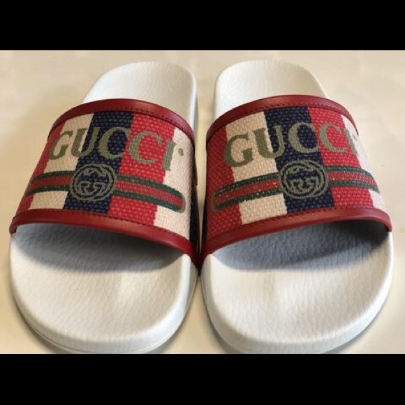 11b046d62 Gucci Other - Gucci Logo Sylvie Slide Sandals